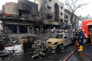 The aftermath of the Karrada bombing in Baghdad